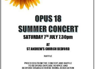 Opus18 Summer Concert in support of BDHRA