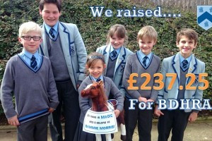 A big THANK YOU to Witham Hall Pupils  who raised £237.25 for us as a result of an idea from one of
