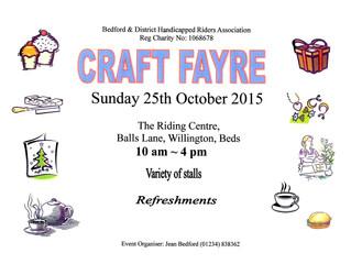 Craft Fayre 2015
