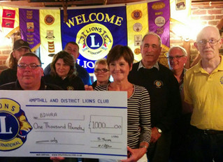 Ampthill Lions Donate £1,000