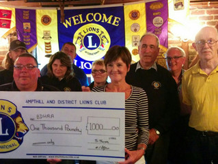 Ampthill Lions Donate £1,000
