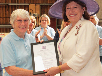 Lord Lieutenant Visits Riding Centre to Present Queen`s Award