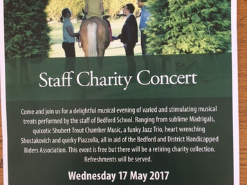 Bedford School organise Concert to raise funds for BDHRA