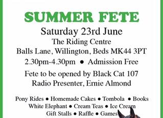 Summer Fete Saturday 23rd June 2018