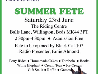 Summer Fete Saturday 23rd June 2018