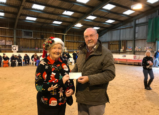 Jean was presented with various cheques