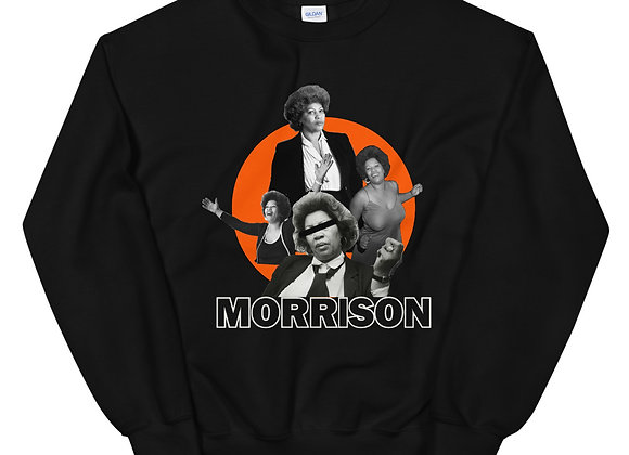 Toni Morrison - Blk & Orange Crewneck