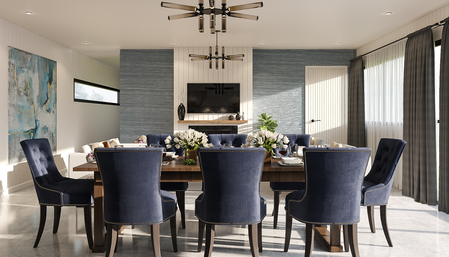 Fielding interior render dining 2