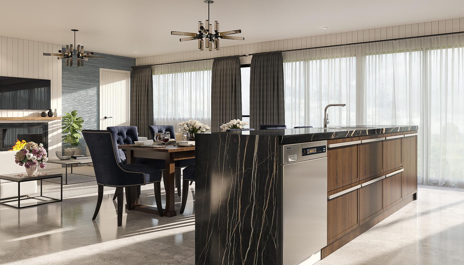 Fielding interior render kitchen