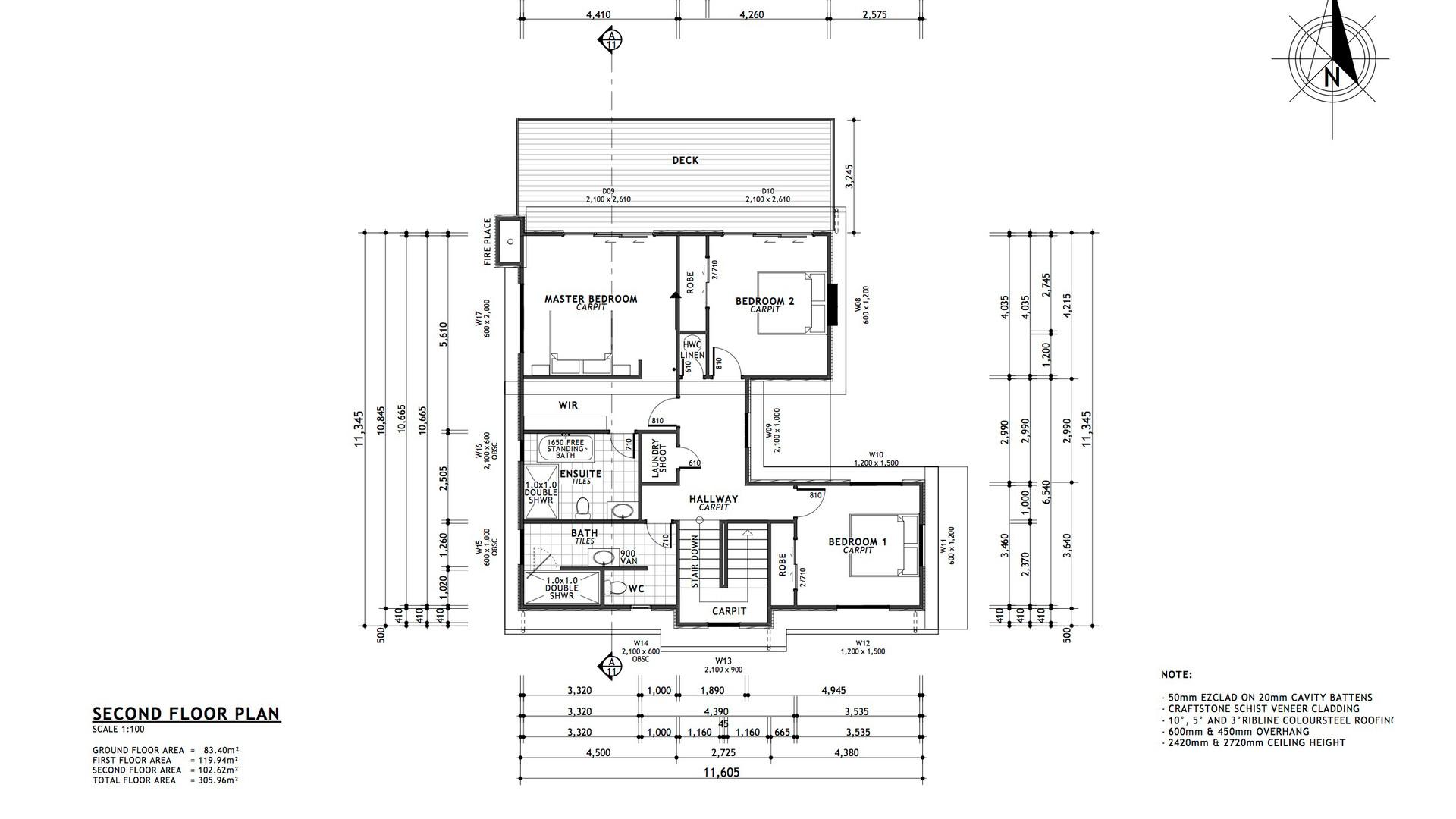 Westmorland second floor plan
