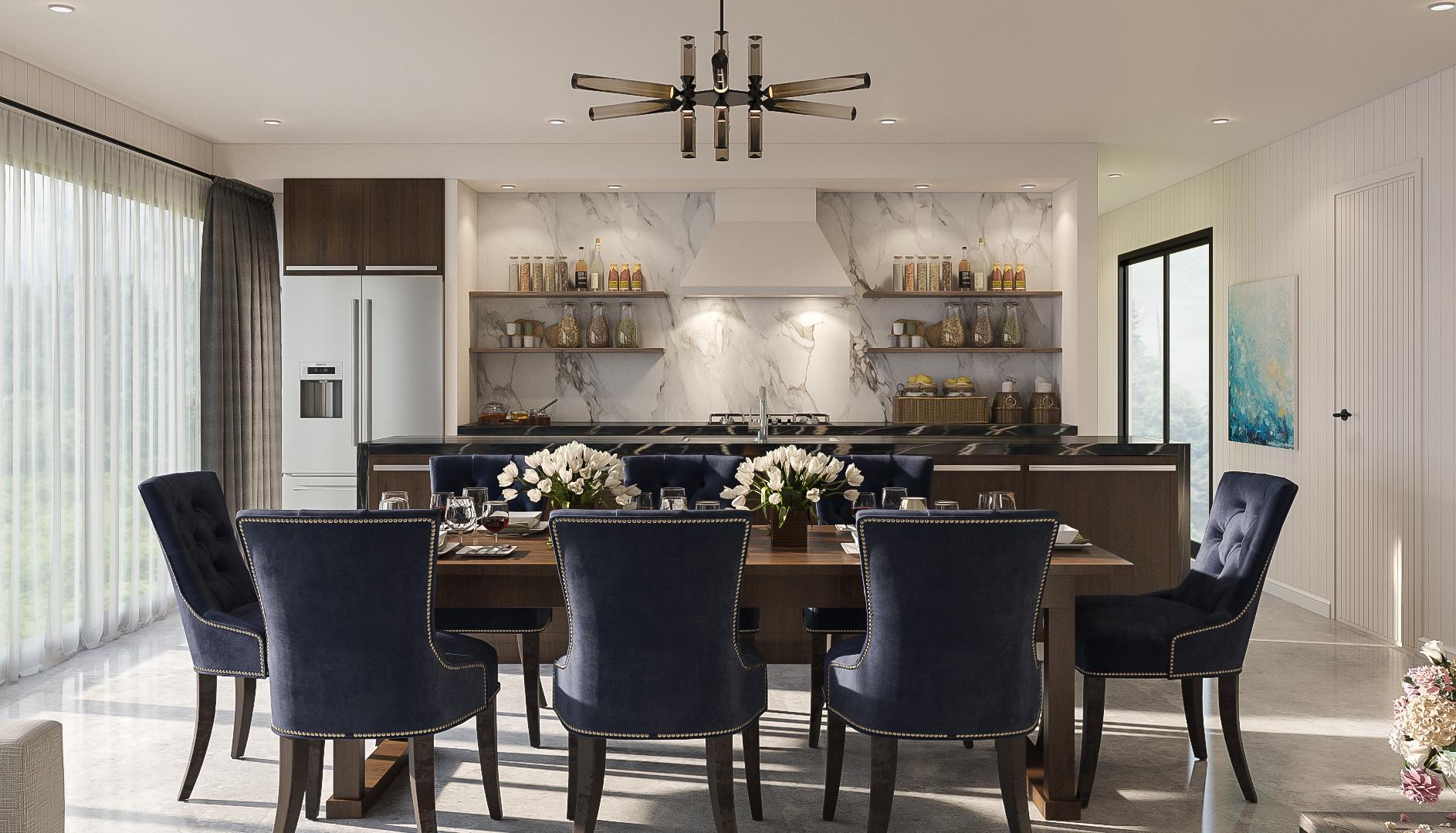 Fielding interior render dining 3