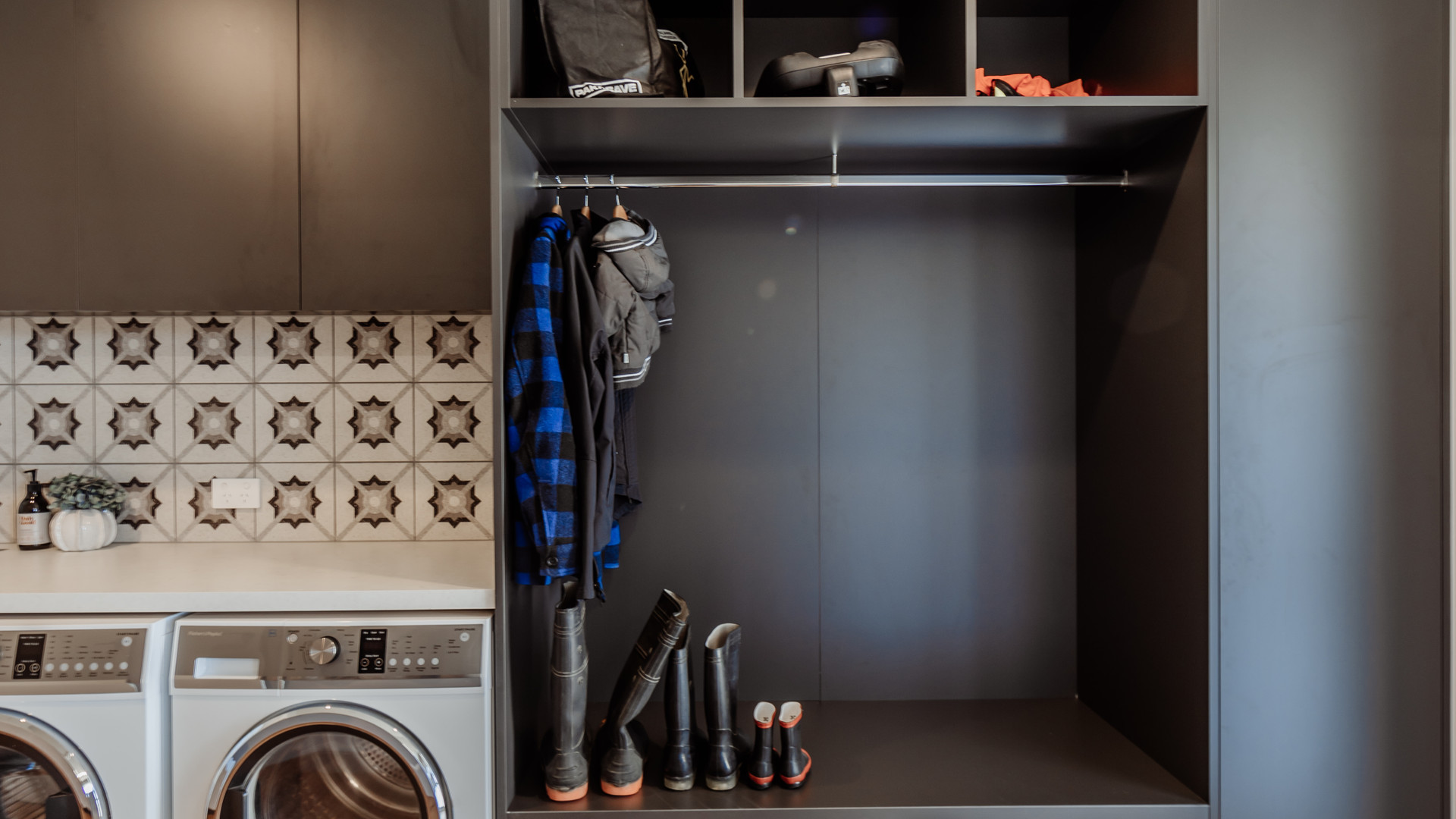 Braeburn laundry mudroom
