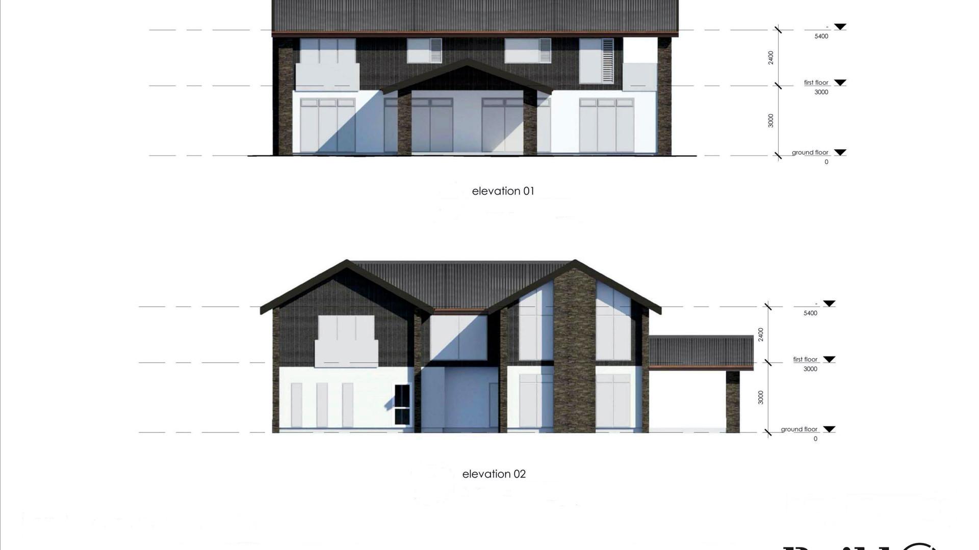 Rangitoto Floorplans & Elevations 1