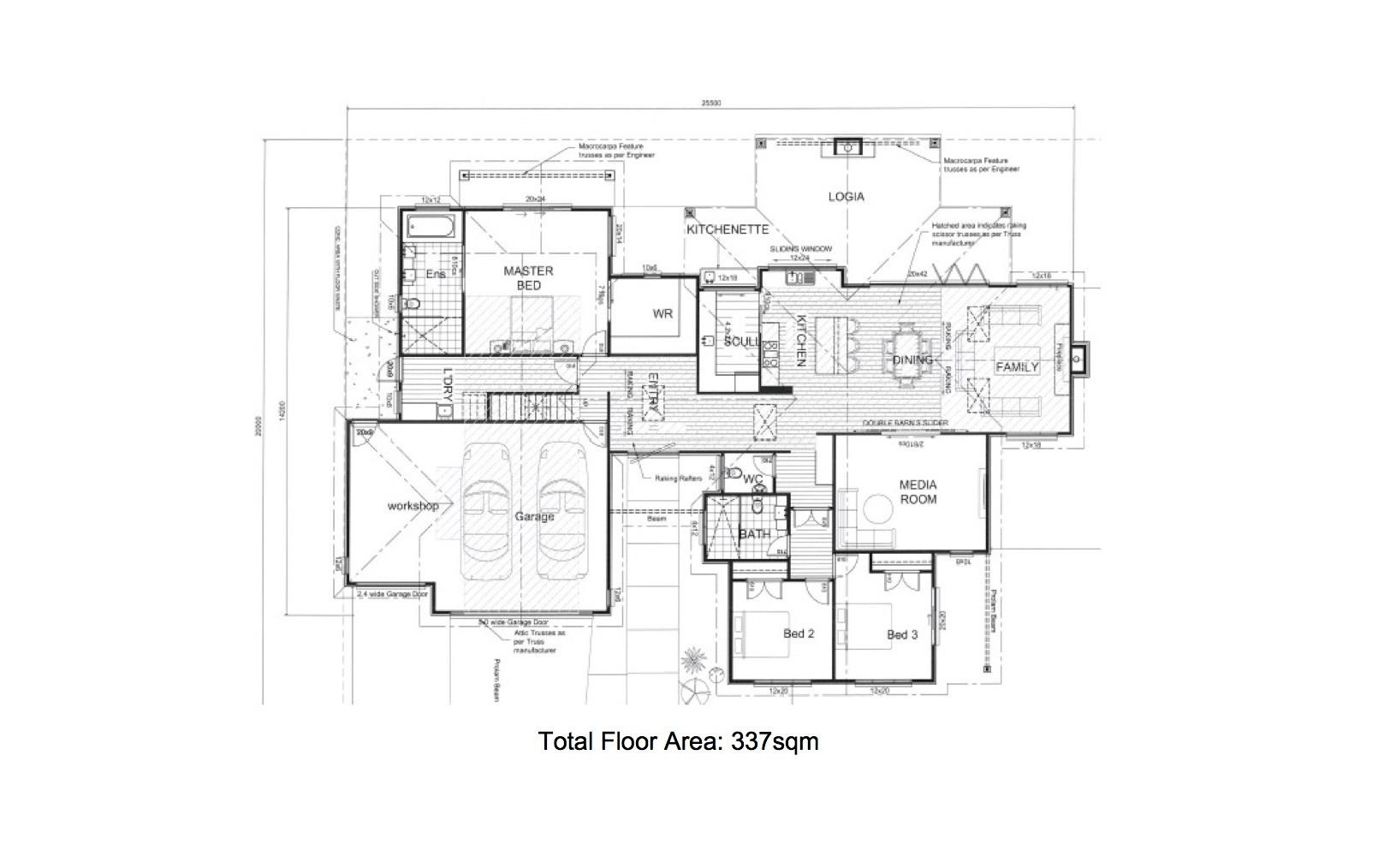 Titoki Straight Floor Plan 1