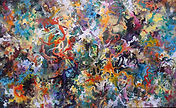 For the Sake of the Great Barrier Reef (121 x 73 cm), aclylic on canvas