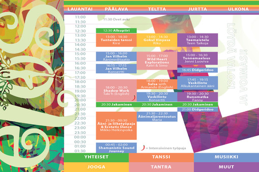 Program leaflet Saturday