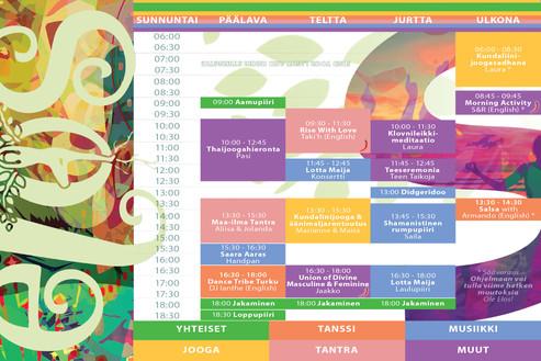 Program leaflet Sunday