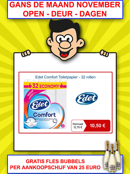 Edet comfort toiletpapier - 32 rollen