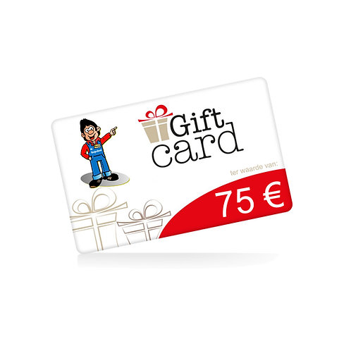 Cadeaubon t.w.v. 75 euro