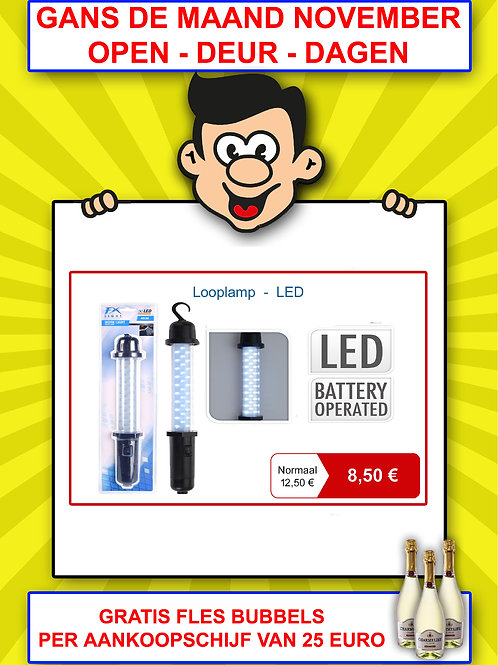 Looplamp - LED - werkt op batterijen