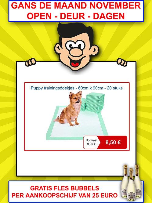Puppy trainingsdoekjes - 60 cm x 90 cm - 20 stuks