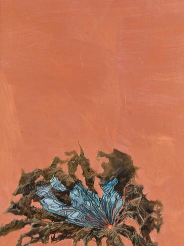 文儒雅思系列  Kind thinking in Literature Series 《夕颜》Sunset face 布面油画 Oil on canvas 40x106cm 2021