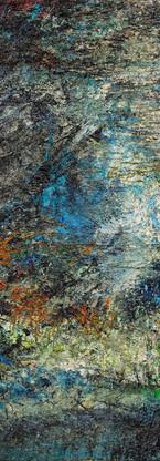 Buco nero profondo Polittico 4 《黑洞深场 八联组 4》 260x120cm Olio su tela 布面油画 2002-2015