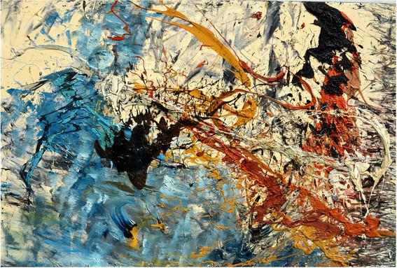 Fiabe antiche B155 《远古童话 B155 》 Olio su tela  布面油画 180x90cm 2012