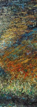 Buco nero profondo Polittico 5 《黑洞深场 八联组 5》 260x120cm Olio su tela 布面油画 2002-2015