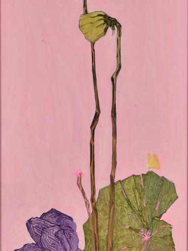 文儒雅思系列  Kind thinking in Literature Series 《恋》Love 布面油画 Oil on canvas 40x106cm 2021