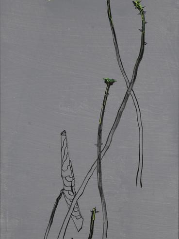 归真系列  Return to the Truth Series 《峰蜕》Peak Shedding 布面油画 Oil on canvas 40x106cm 2021