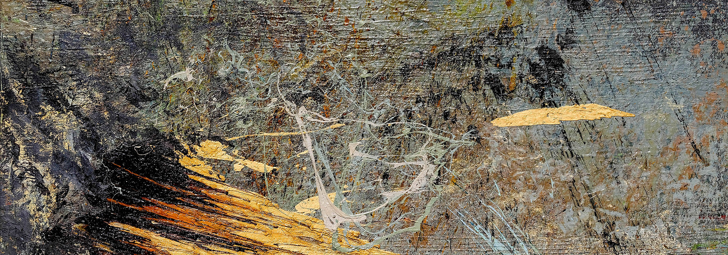 Landa desolata B056 《卷转荒流 B056》 Olio su tela 布面油画 200x120cm 2013