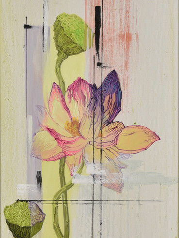 文儒雅思系列  Kind thinking in Literature Series 《迷幻的数码世界》 Psychedelic digital world 布面油画 Oil on canvas 40x106cm 2021