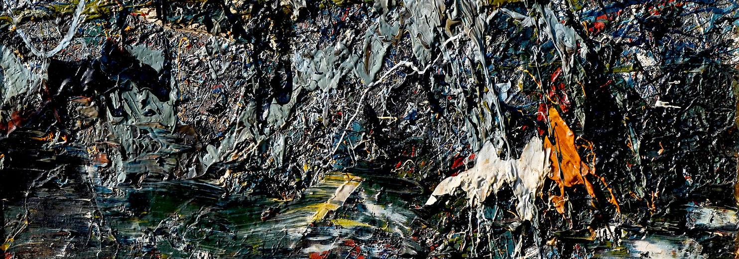 Landa desolata B273 《卷转荒流 B273》 Olio su tela 布面油画 40x30cm 2012