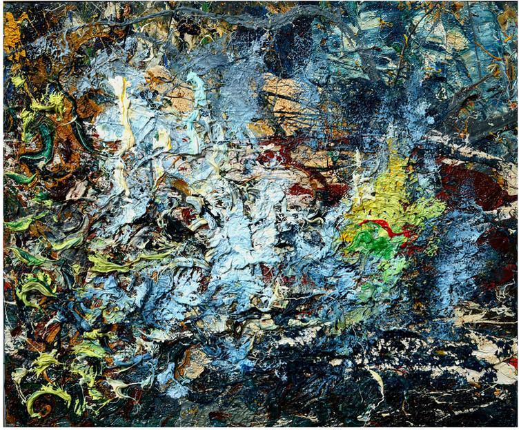 Cielo stellato di pastori B838 《牧人星空838》 Olio su tela 布面油画 60x50cm 2013