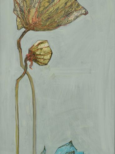 文儒雅思系列  Kind thinking in Literature Series 《向远》Towards the horizon 布面油画 Oil on canvas 40x106cm 2021