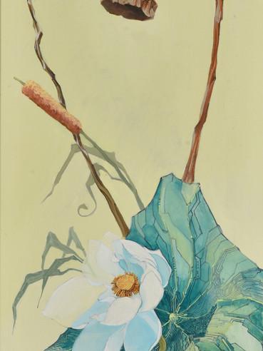 文儒雅思系列  Kind thinking in Literature Series 《禅》Zen 布面油画 Oil on canvas 40x106cm 2021