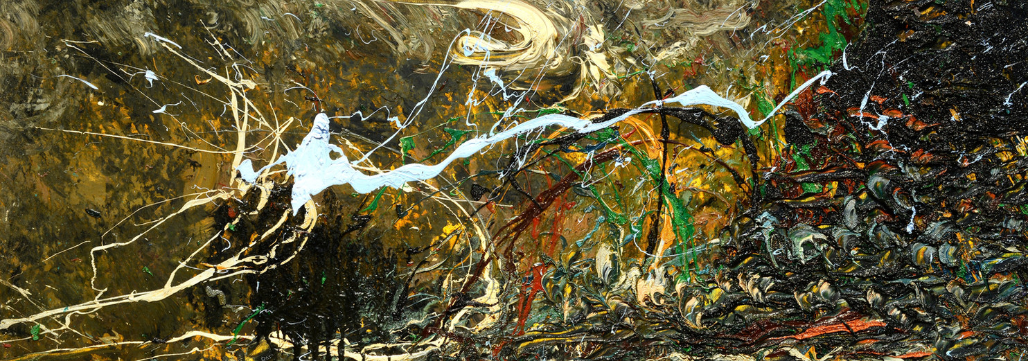 Landa desolata B163 《卷转荒流 B163》 Olio su tela 布面油画 160x66cm 2013