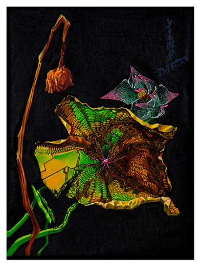 《翠作裳》 Dress in green  布面油画  Oil on canvas 16x22cm 2020