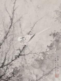 All Saint's mood《清暝入》 Ink on paper 纸本水墨 45x45cm 2020