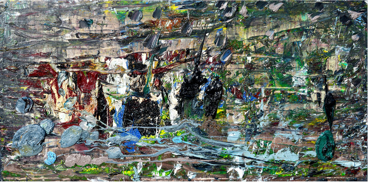 Panorama B671 《正面图景 B671》 Olio su tela 布面油画 160x80cm 2015