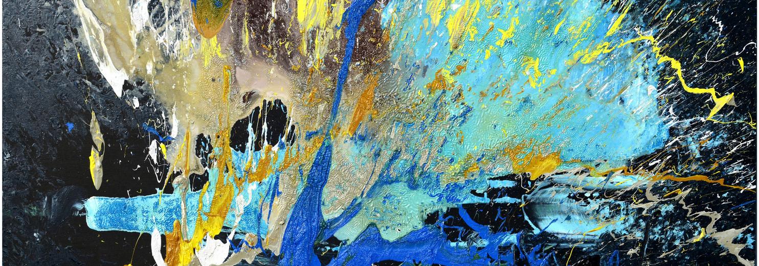 Natura selvaggia e silenziosa B672 《无声野性 B672》 Olio su tela 布面油画 160x80cm 2015