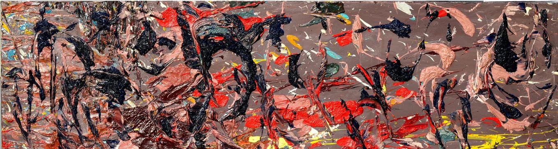 Cielo stellato di pastori B707 《牧人星空B707》 Olio su tela 布面油画 150x40cm 2015