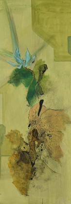 稀碎的挫折感系列  Fragmented Frustration Series 《风摧》Wind blast 布面油画 Oil on canvas 40x106cm 2020