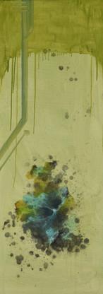 稀碎的挫折感系列  Fragmented Frustration Series 《被夯实中》Being compacted 布面油画 Oil on canvas 40x106cm 2020
