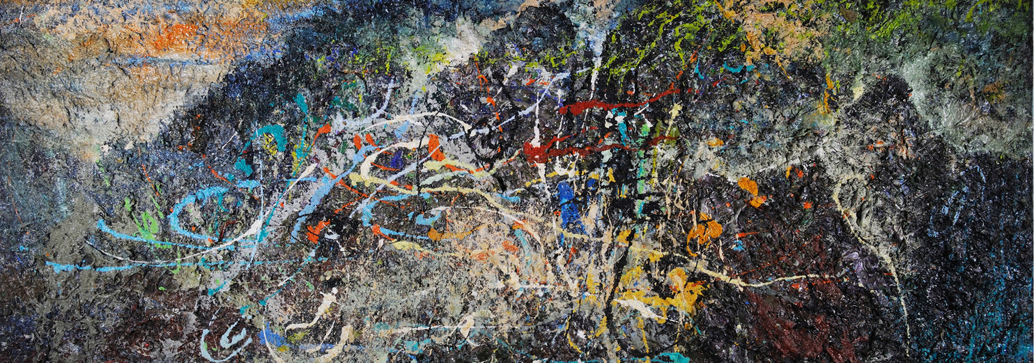Landa desolata B060 《卷转荒流 B060》 Olio su tela 布面油画 260x120cm 1998