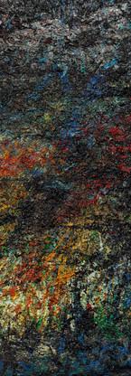 Buco nero profondo Polittico 6 《黑洞深场 八联组 6》 260x120cm Olio su tela 布面油画 2002-2015