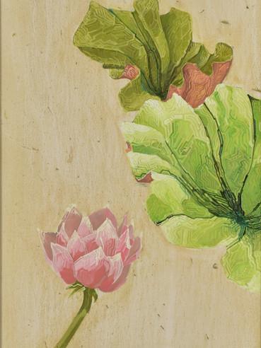 文儒雅思系列  Kind thinking in Literature Series 《春索夏》Spring and summer 布面油画 Oil on canvas 40x106cm 2021
