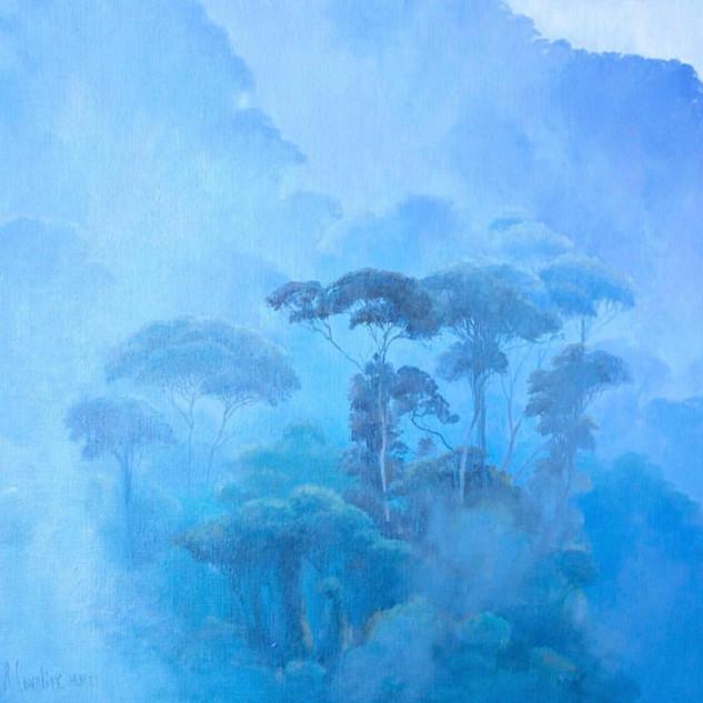 Niebla azul