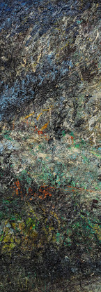 Buco nero profondo Polittico 2 《黑洞深场 八联组 2》 260x120cm Olio su tela 布面油画 2002-2015